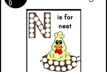 Alphabet Letter N / Activities for learning alphabet letter N in preschool