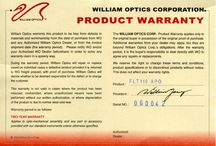 Williams Optics product warranty.