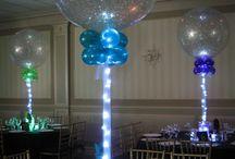 """30"""" Balloon centerpieces"""