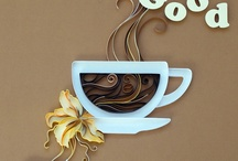Pictures- quilled coffee