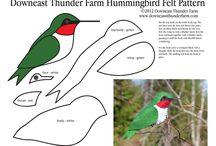colibrí tela