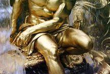 Poseidon and Cleito / Inspiration for my Poseidon and Cleito epic