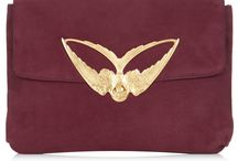 W&G Tito -Suede Clutch Bag / Calf suede clutch bag with a gold plated bronze swallow clasp - Made in the UK  25cm x 17cm x 5cm