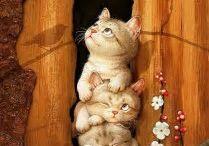 Illustrazione di gatti