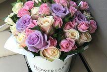Kwiaty w pudełku ^^