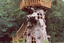 Playhouse and Tree Trunk Re-do