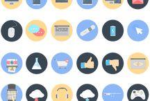 icons, types