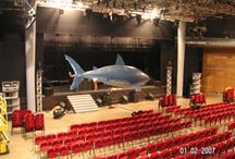 Radio controlled flying shark / For an Italian theater production, we built a real life size flying shark that then flew over the audience.