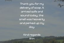 Little Soap Thoughts / Positive quotes