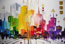 Inspiration til maleri - city