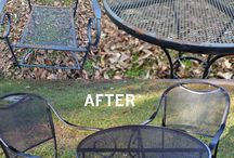 Backyard-Restoring Outdoor Furniture / Re-do and make it pretty again. / by Linda Finni