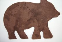 My Animal & Critter Appliques / Appliques cut from 100% cotton fabric to be used on quilts, wall hangings, baby blankets, pillow tops or pillow cases,  bath towels, pj's, robes, burp cloths, totes, diaper bags, duffle bags, kids curtains,  jeans, shorts, jackets, T-shirt, sweatshirt, vests, scarfs, kitchen towels, potholders, table runners, aprons, appliance covers, crafts--photo albums, lamp shades.....  The ideas are endless------ Can be machine or hand appliqued.  Available at www.appliquesquiltsandmore.com