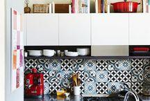 Кухня - мебель, фартук