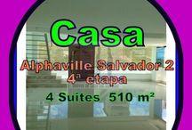 Casas a Venda em Salvador, Bahia / Casas a venda em Salvador, Alphaville Salvador 2, Alphaville Litoral Norte, Buraquinho, Lauro de Freitas, Bahia
