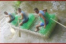 Boats out of plastic bottles