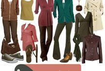 fashion with autumn colour palette