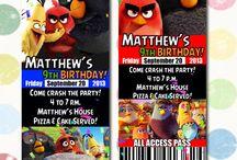 Decoración fiesta Angry bird the movie