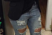 pantalones rasgados