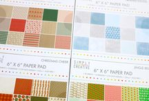 Simply Creative Christmas Papercraft Collection / Simply Creative have released a selection of beautifully festive  paper pads so you won't be stuck for choice for your Christmas crafting! Alongside these gorgeous pads, there are a selection of wonderful stickers to work alongside the paper designs.