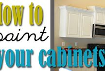 Kitchen cabinet makeover / by Stacy Turner