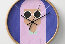 TheBeardedBird - Wall Clocks / Wall Clocks by TheBeardedBird:  http://society6.com/thebeardedbird/wall-clocks
