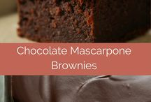 Chocolate mascarpone brownie