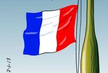 Je Suis Charlie / Viñetas que denuncian el atentado contra la revista Charlie Hebdo el 7 de enero de 2015.
