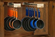 Glideware / #KBISLoves Glideware, a revolutionary kitchen organizing device that allows you to hang your pots and pans inside of your cabinet and display them only when YOU want to.