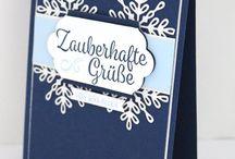 Winterwunder Snowflake Sentiments Stampin' Up! Weihnachten Schneeflocke