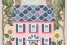 Cross stitch ~house city landmark landscape etc