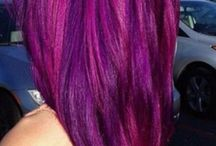 shock colored hair