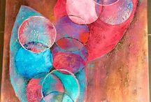 """Ortansia / Voila après notre exposition personnel ......  Je me présente Au SALON -CONCOURS DE L'ACADÉMIE DUMA A ECAUSSINNES du 29 avril au 08 mai   Entrée gratuite pour venir admirer et voter les œuvres   Voici les détails d'une de mes toiles pour ce concours   """" ORTANSIA """"  Toile de 80 cm / 120 cm  https://www.facebook.com/toiles.jeaninelucci/"""