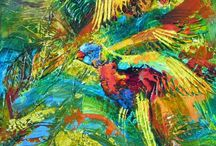 Birds, birds and more birds / Been painting birds for a lot of years now, but still the notion of capturing their flight fascinates me. Captures me, even. #youseewhatididthere?