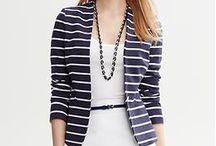 Striped Blazer Ideas / by Leila Breton