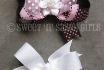 diy hair clips, bows, headbands