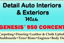 Genesis 950 Car Cleaning / Looking to detail your car. Have a stain on your car seat you need to get rid of? Genesis 950 can clean your car inside and out!
