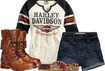 Harley Davidson girl outfits