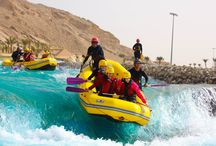 Wadi Adventure / The most exciting water adventure park, located near Green Mubazzarah is Wadi Adventure. As the tagline suggests the park is very popular for rafting, Kayaking and Surfing but the activities are not limited to just that. They also have air park facility, family and kids pools. And of course some amazing eateries and cafes to replenish your energy before you head for another round of excitement and adventure.