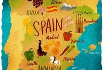 illustrated maps-spain