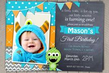 Boys First Birthday Invitation / Boys First Birthday Custom Invitations Print yourself at home, local store or online. I can print and send to you if required ! $10 standard 24-72 hour time frame $20 RUSH under 24 hours ! Unique and Personalized just for your wee one :)