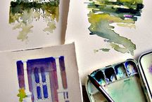 watercolour painting / learning about watercolour artists