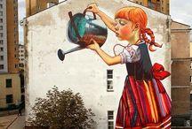 Graffiti a zajímavosti / Malování na zeď a chodníky a jiné kuriozity