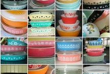 dishes, vintage pottery, mccoy, pyrex and table settings / by Viva Zak