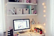 Home Office & Work Space / Home Office | Work Space Design | Interior | Decoration | Organization | Shelf for Books| Espaço de Trabalho | Prateleiras para Livros