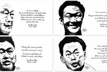 rememberingLKY / With the power of words, each memorable expression and lasting quote of mr lee kuan yew, were visually captured and illustrated to create a never ending story.