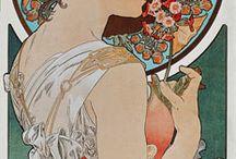 secesja/ art noveau / koniec XIX w początek XX  architektura,  malarstwo, rzeźba , grafika , witraż,  sztuka użytkowa,  rzemiosło artystyczne  cechy: dekoracyjność,  zdobnictwo  falista linia  wyraźnie zaznaczone kontury motywy roślinne i zwierzęce  pastelowe barwy   Alfons Mucha  Gustaw Klimt  Stanisław Wyspiański  Józef Mehoffer
