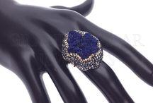 Druzy Jewelry & Gems / Trend setting, designer druzy jewelry & raw crystal gemstones  GrandBazaarJewelers.com #GBJ1455 #Druzy #Crystal #Drusy #Energy #Raw #Druse #Natural #Gemstone #Jewelry