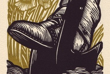 linocut, wood engraving