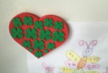 St Patrick's Day / St patty's Day , shamrocks heart