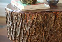 wood stump furniture